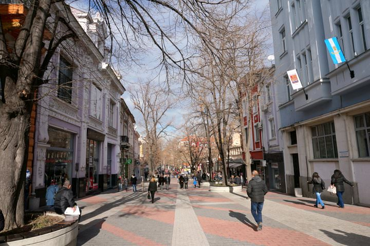 pedestrian street plovdiv bulgaria