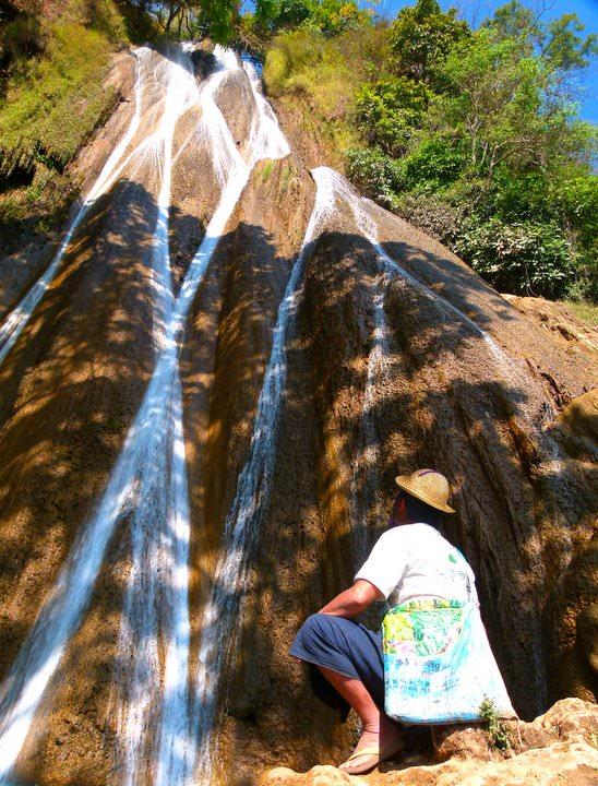 waterfall in naloy village myanmar
