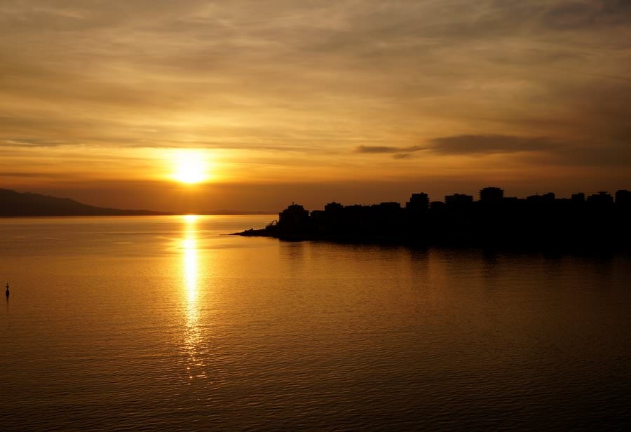 sunset in saranda albania
