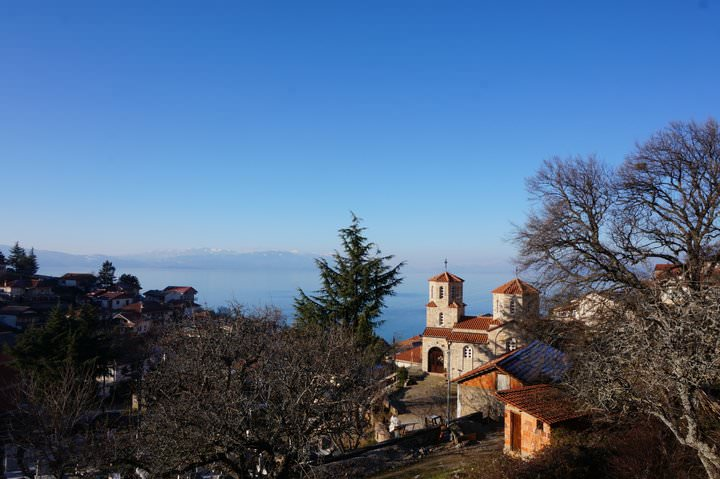 church in lake ohrid macedonia