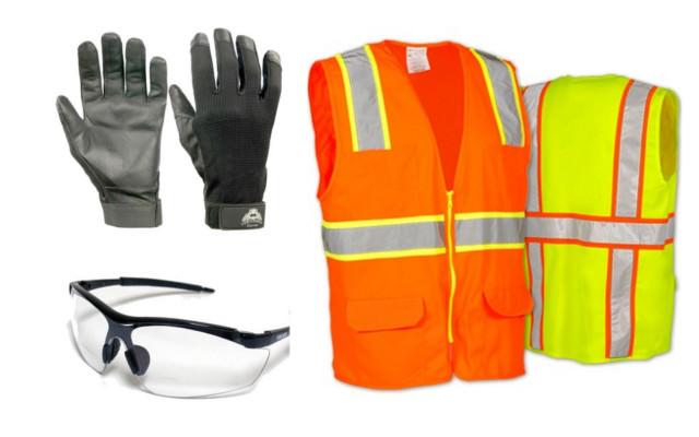 Gloves Glasses Vest
