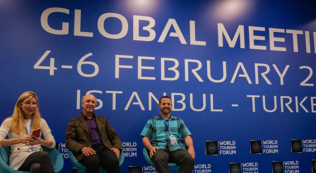 speaking at World Tourism Forum istanbul