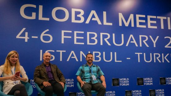 speaking at World Tourism Forum istanbul