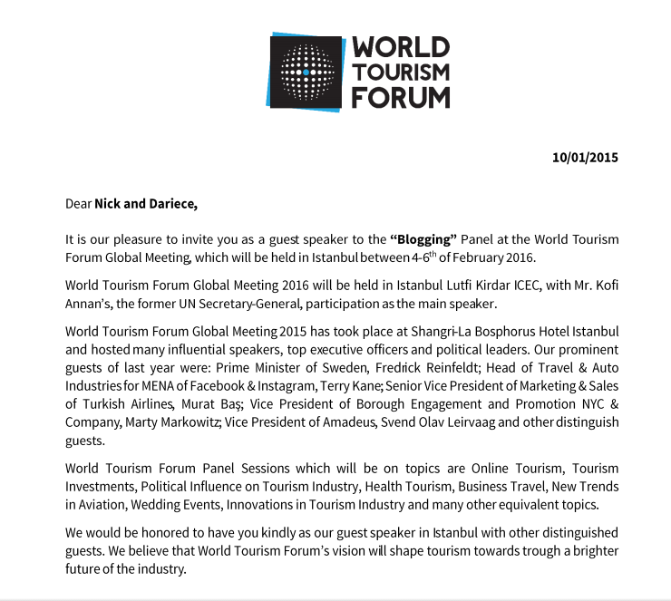 the world tourism forum in istanbul