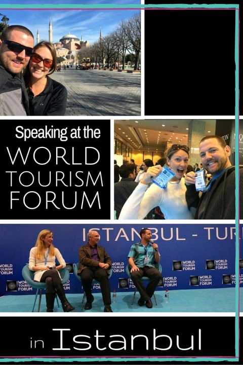 Speaking at The World Tourism Forum in Istanbul