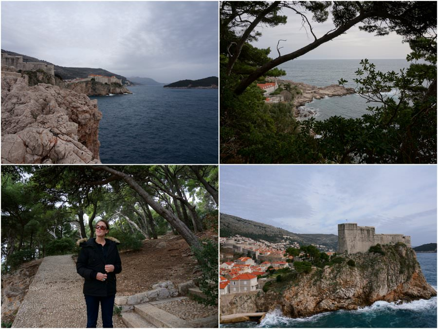 travelling to dubrovnik visit the park near the old town in croatia