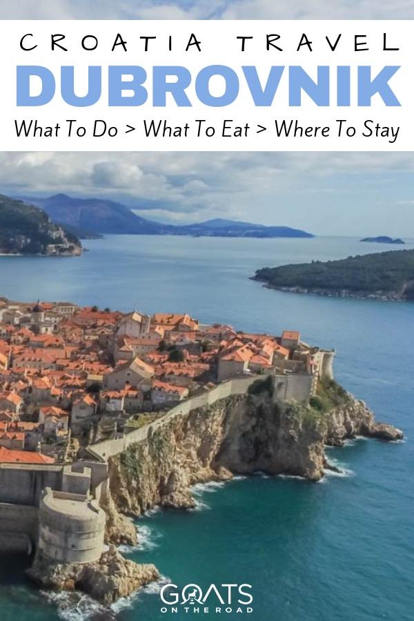 Kings landing with text overlay Croatia Travel Dubrovnik