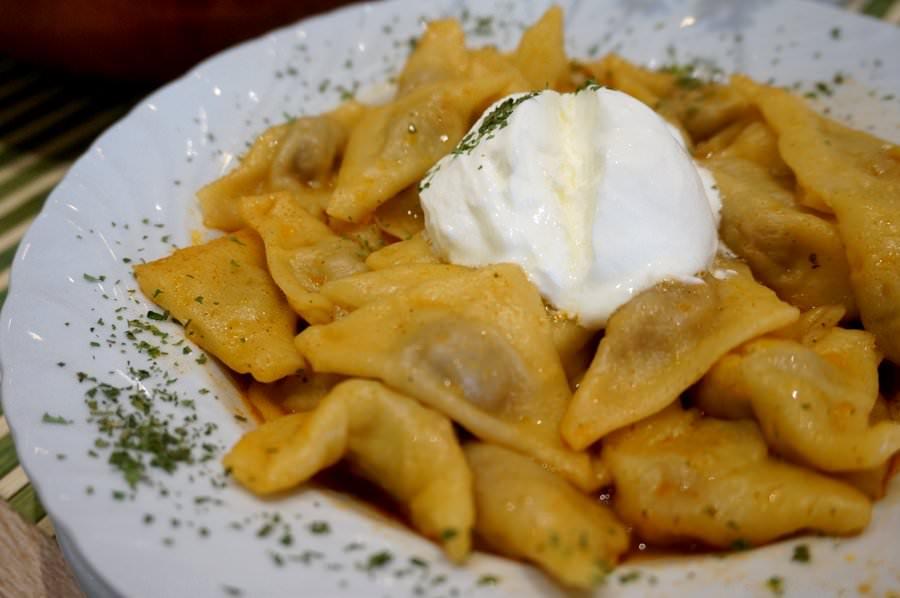 klepe dumplings bosnian food in Sarajevo