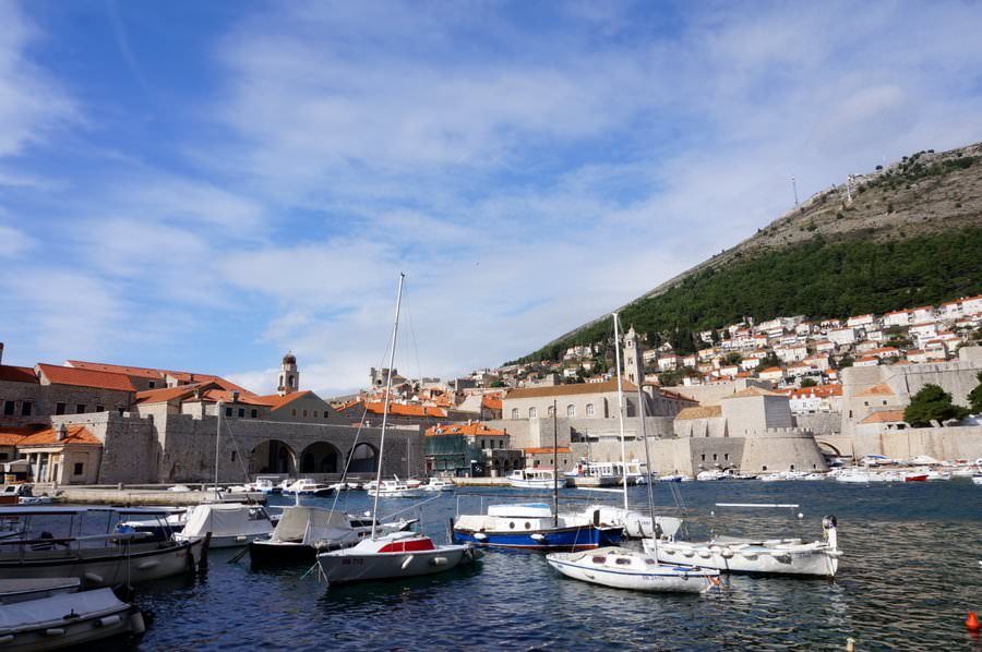 travel to dubrovnik croatia the harbour