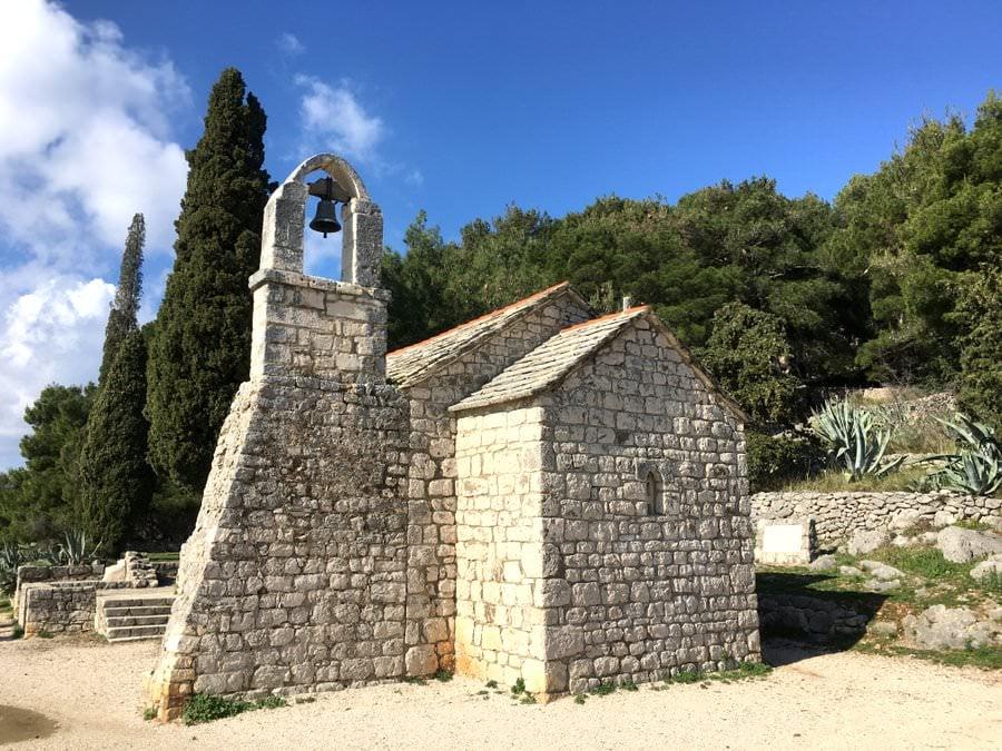church at marjan hill in split croatia