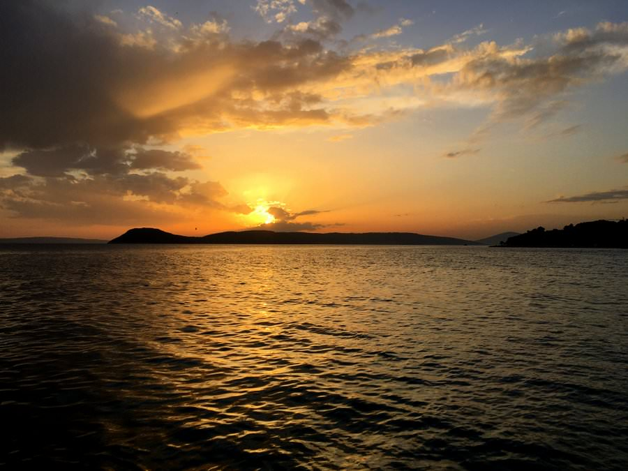 travel to split croatia sunset