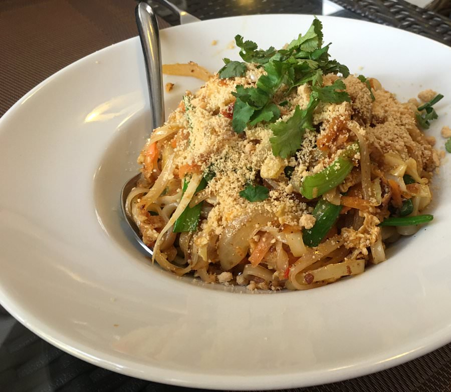 pad thai from taste of asia in budva montenegro