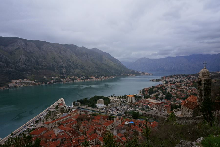 travel to montenegro hiking at the bay of kotor
