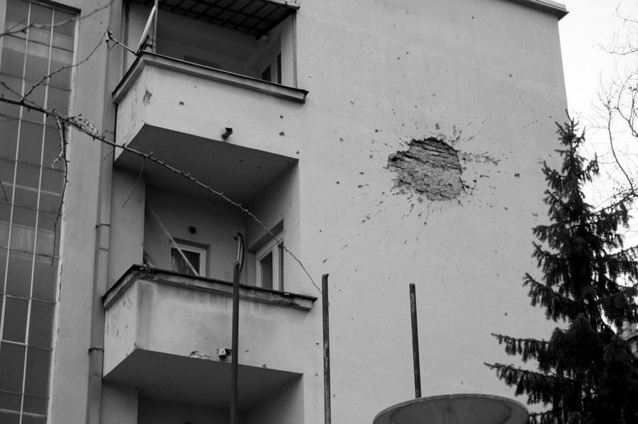 Shell Blast in Sarajevo