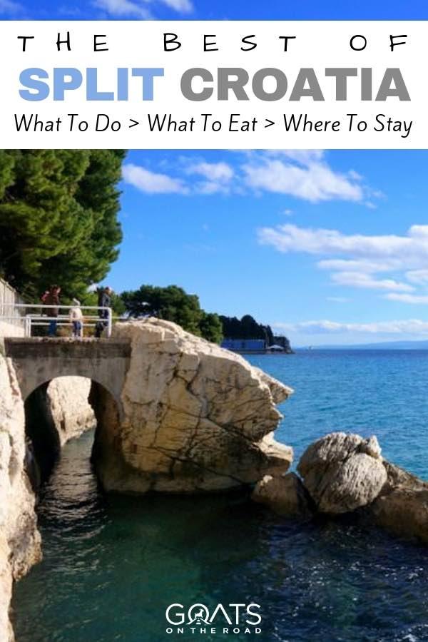 Croatian coastline with text overlay  The Best of Split Croatia