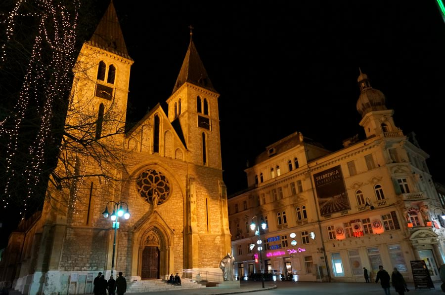The Sacred Heart Cathedral in sarajevo bosnia