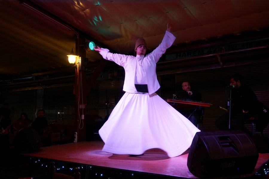 whirling dervish in istanbul