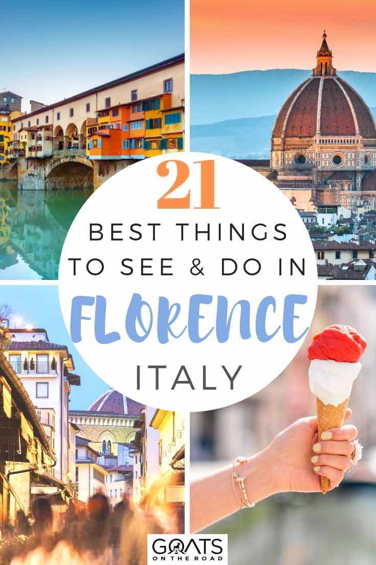 highlights of Florence with text overlay 21 best things to see and do