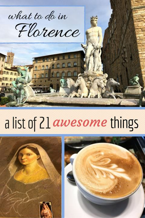 coffee and art with text overlay what to do in florence