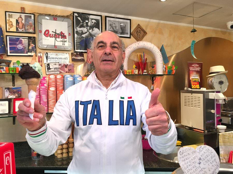 gelato in rome italy