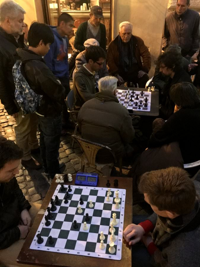 travel to italy chess playing in rome