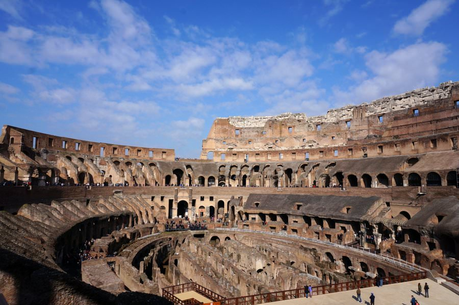 the roman colosseum in rome italy