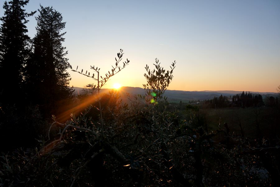 tuscan sunset in italy