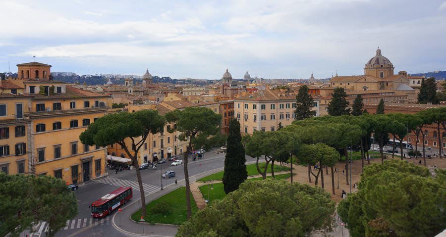 view of the city of rome in italy