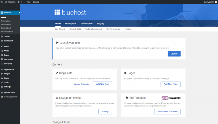 how to start a money making blog with bluehost's easy wordpress tools