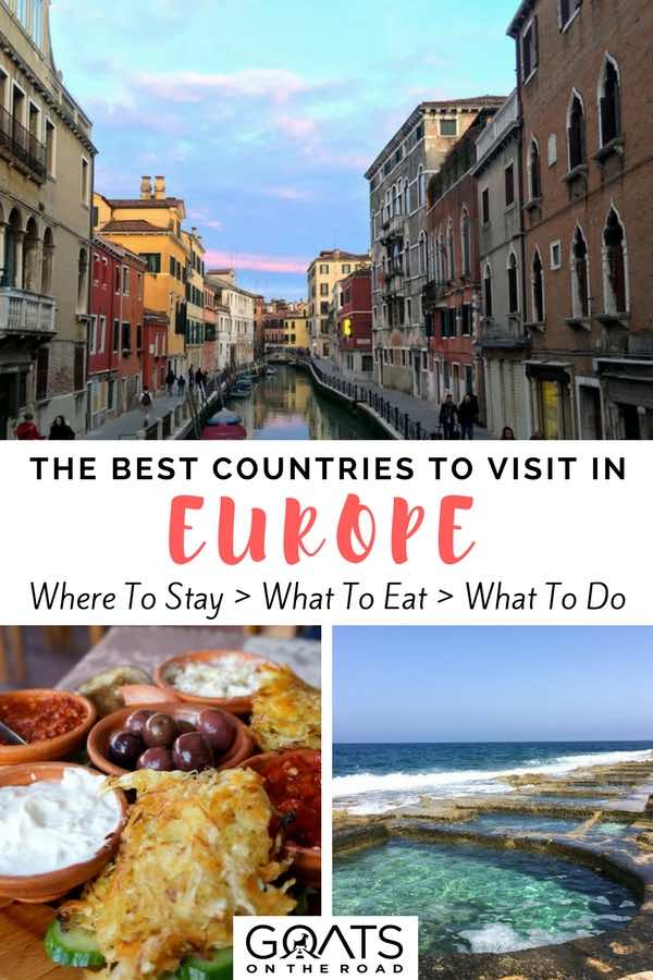 Italy & Malta with text overlay The Best Countries To Visit in Europe