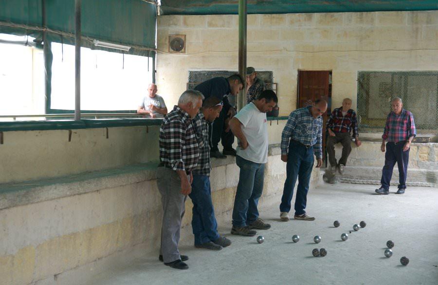 playing bocci ball in gozo malta