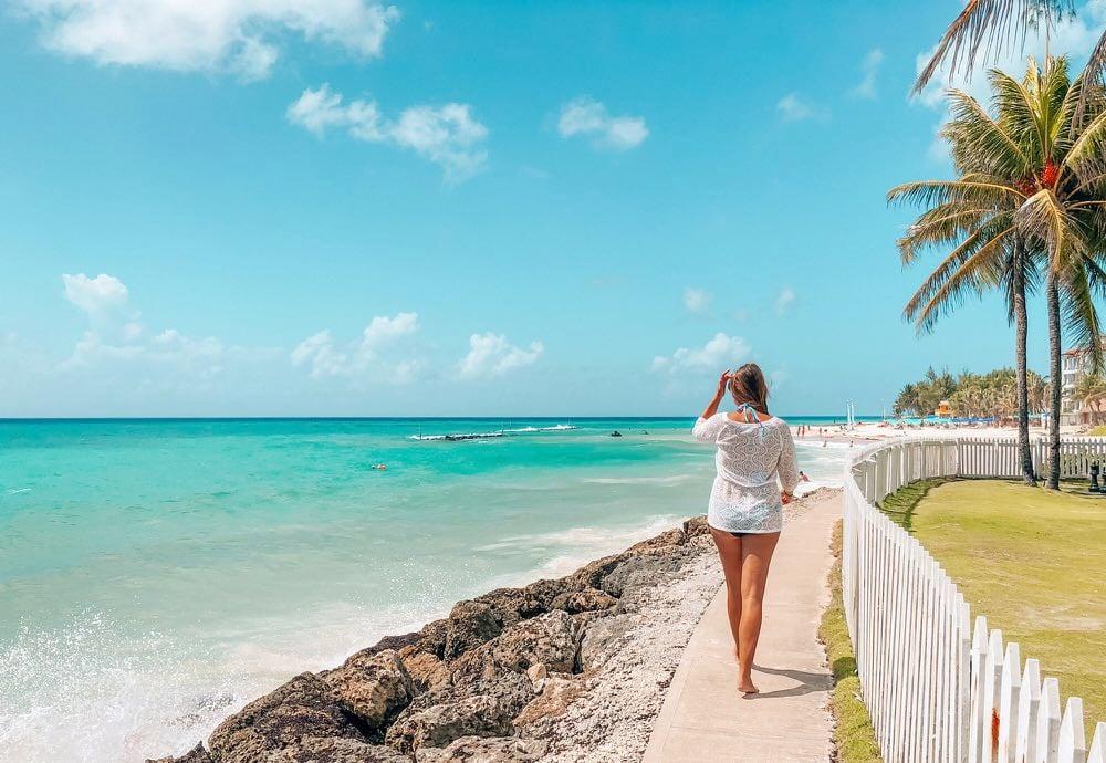 walking along the sea barbados
