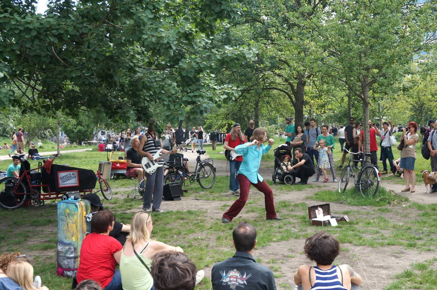 Performers in Mauer Park, Prenzlaur Berg