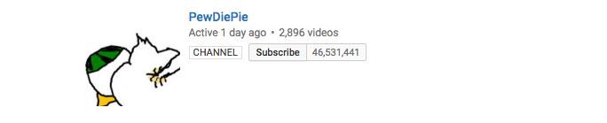 PewDiePie Vlog Subscribers