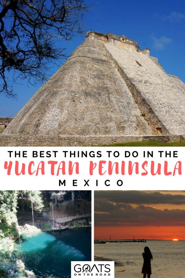 Uxmal pyramid with text overlay The Best Things To Do In The Yucatan Peninsula Mexico