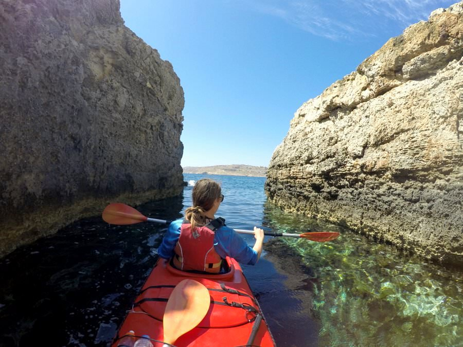 kayaking trip gozo
