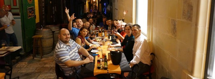 A Night Out On Straight Street in Valletta