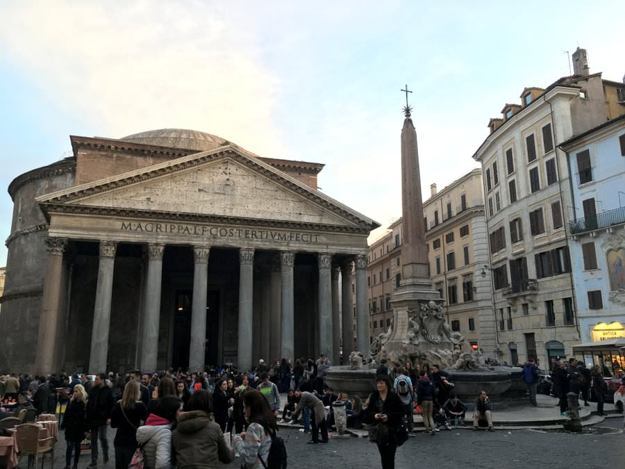travelling to rome pantheon