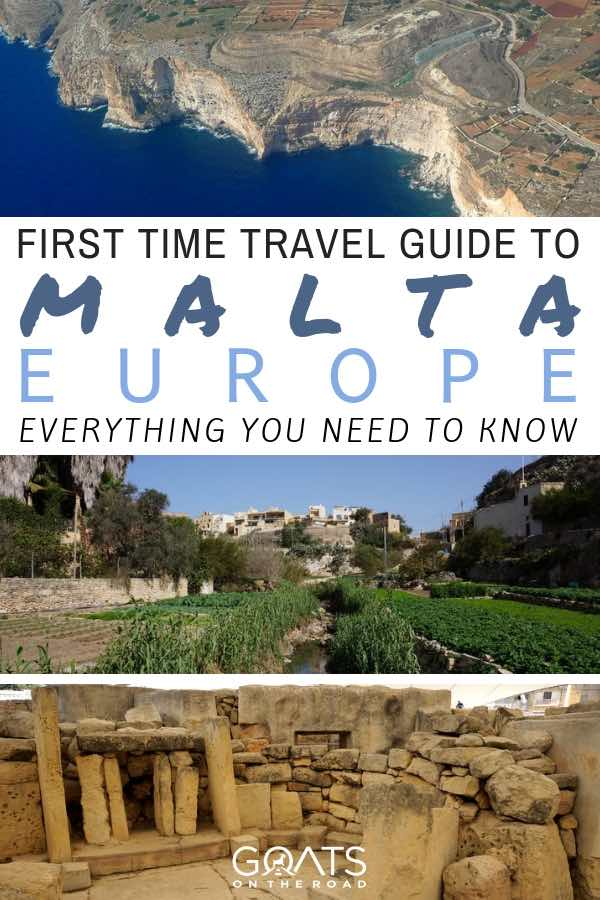 Malta landscapes with text overlay First Time Travel Guide To Malta Europe