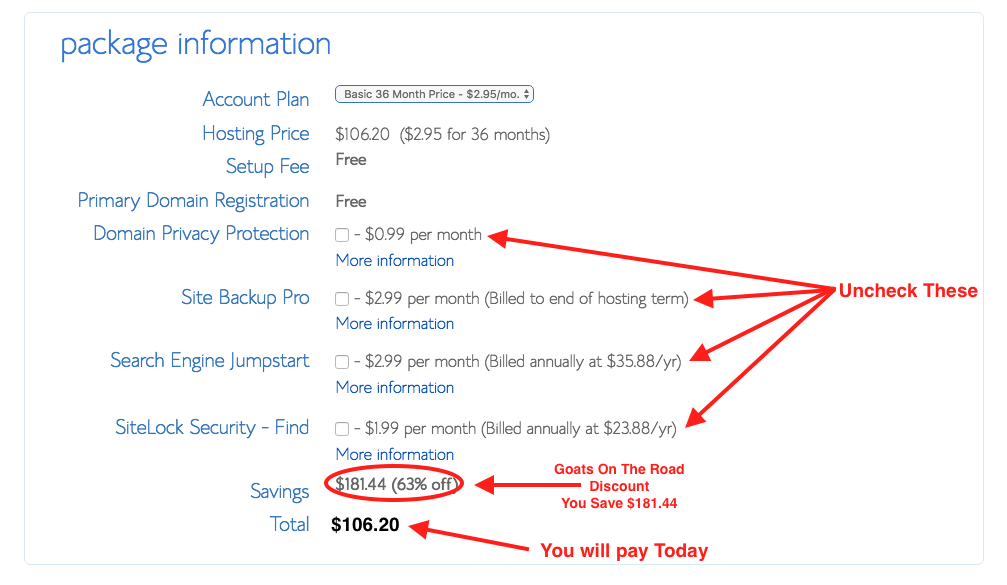 How To Start A Travel Blog Bluehost Price Discount Goats