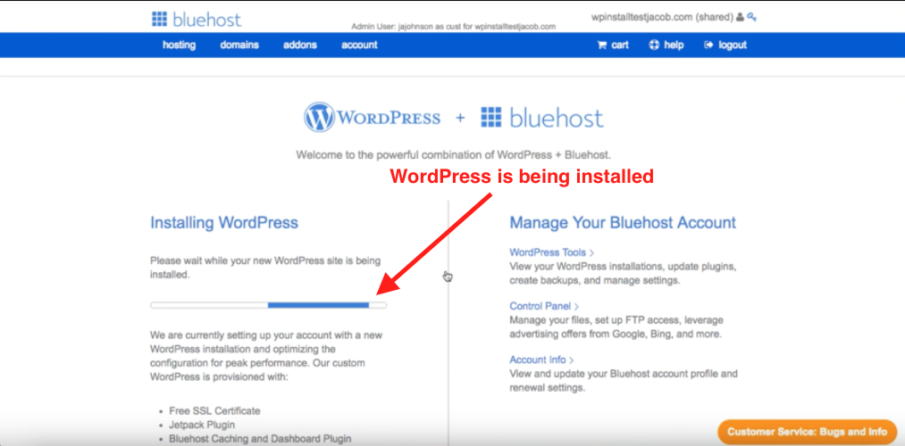 Installing WordPress how to start a blog