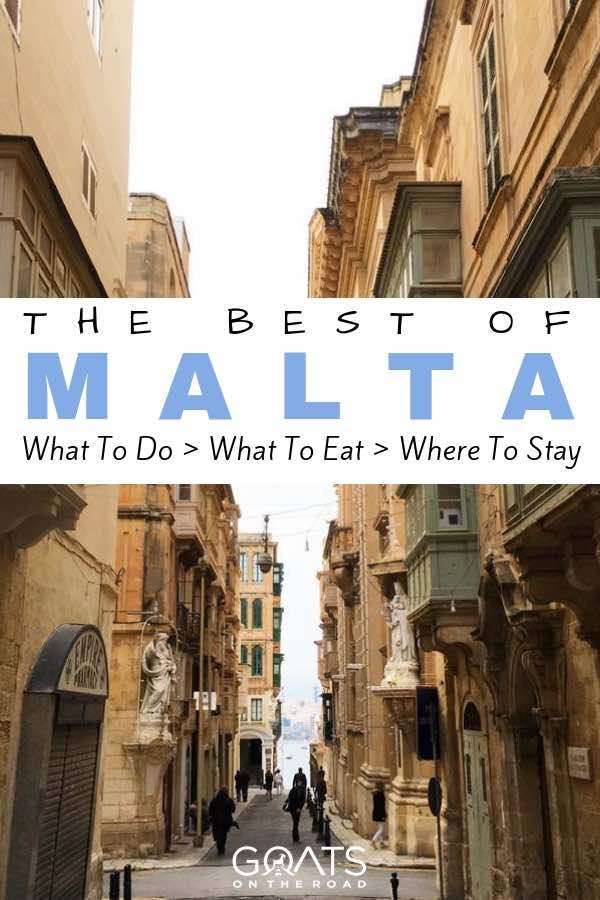 Maltese architecture with text overlay The Best of Malta