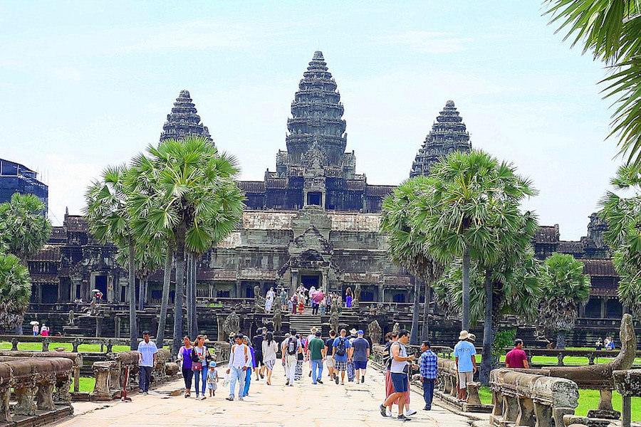 angkor temples, angcor wat towers, cambodia