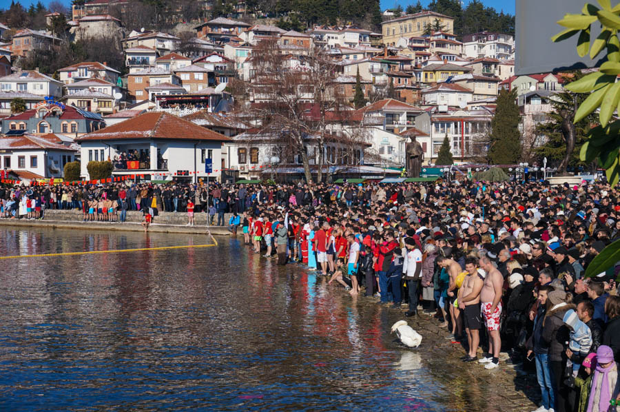epiphany celebrations lake ohrid macedonia