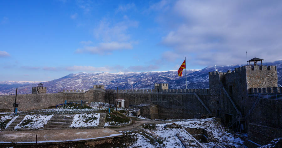 fortress at lake ohrid macedonia