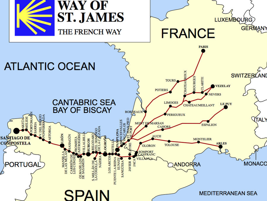 hiking the french camino route