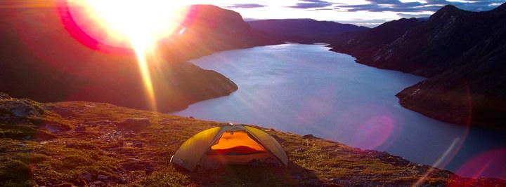 morning sun in jotunheimen, norway