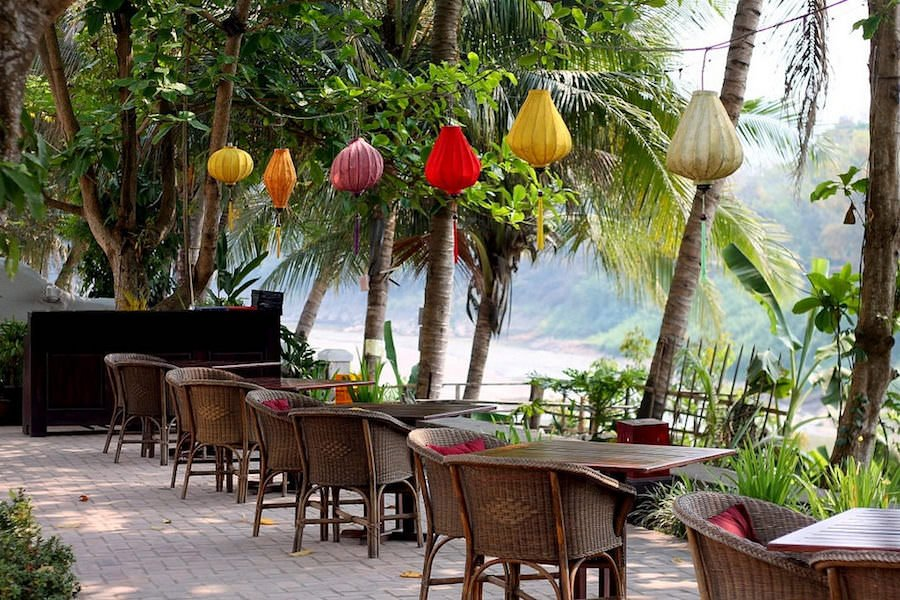 restaurants by the river, Luang Prabang