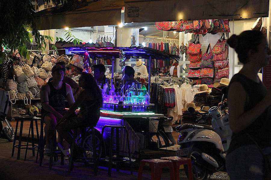 siem reap, pub street, cambodia