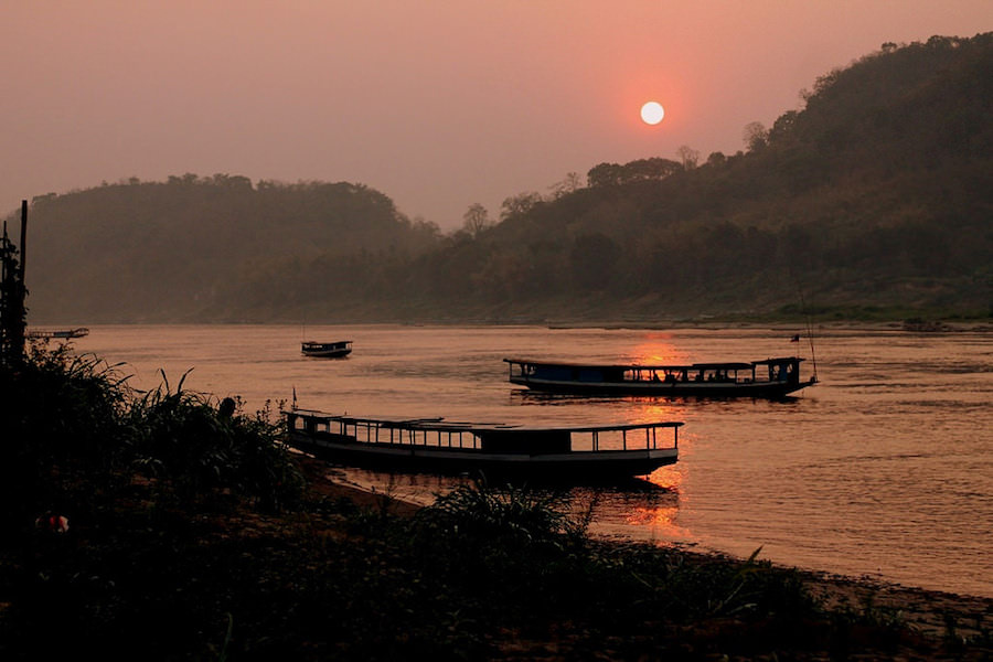 sunset, Luang Prabang